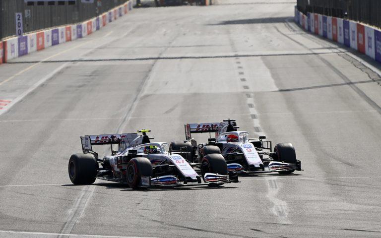 Mick Schumacher a Nikita Mazepin v súboji