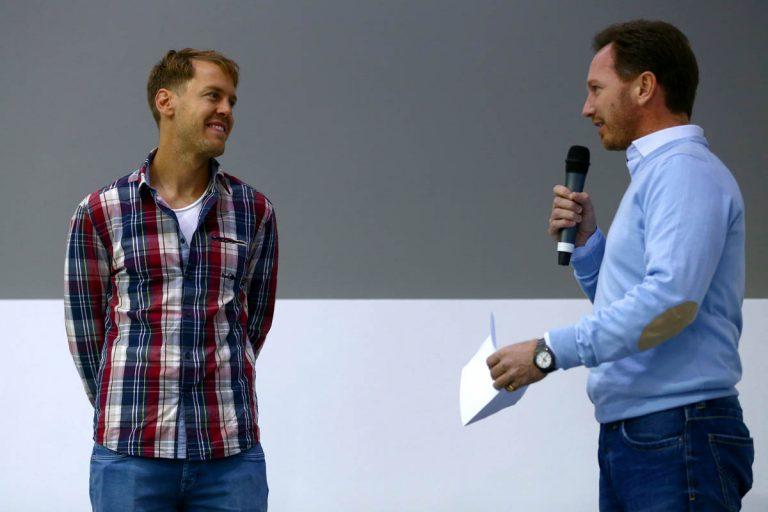 Sebastian Vettel a Christian Horner