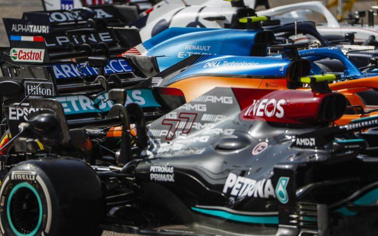 Monoposty F1 2021, parc fermé, Mercedes