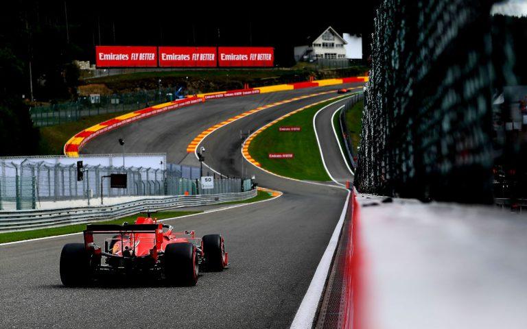 Sebastian Vettel pred Eau Rouge