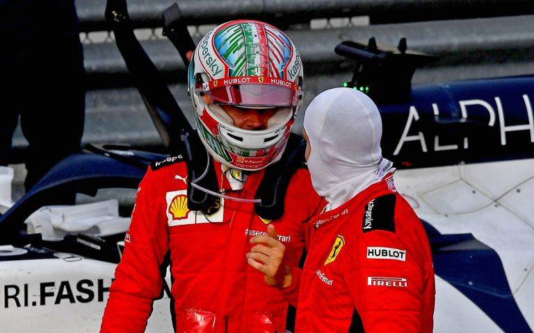Charles Leclerc a Sebastian Vettel