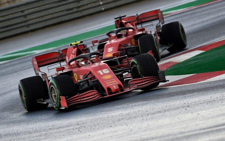 Charles Leclerc pred Sebastianom Vettelom