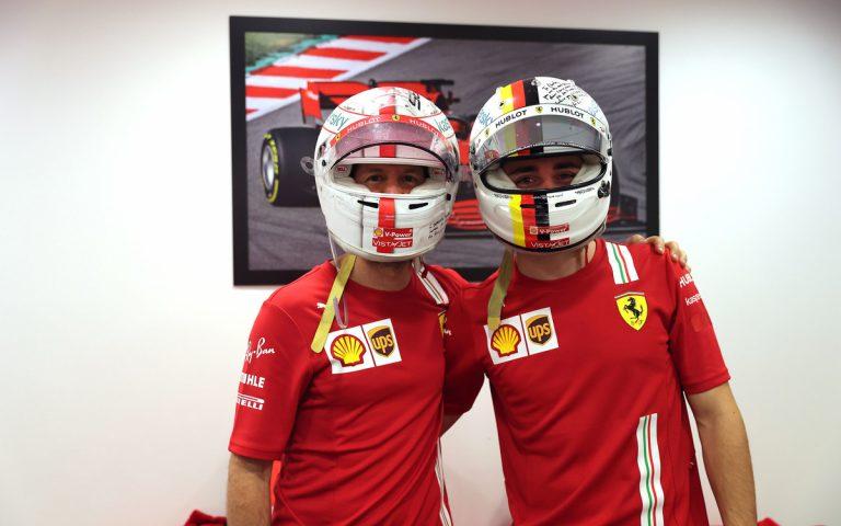 Charles Leclerc a Sebastian Vettel si vymenili prilby