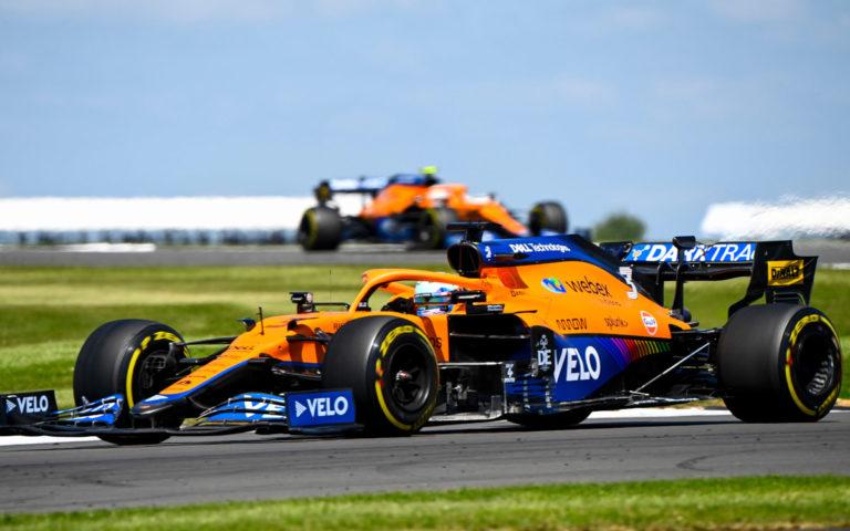 Daniel Ricciardo pred Landom Norrisom