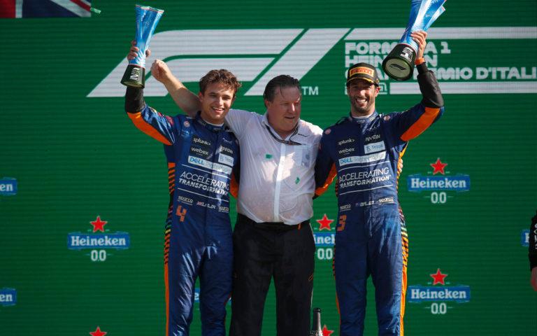 Daniel Ricciardo, Lando Norris, Zak Brown