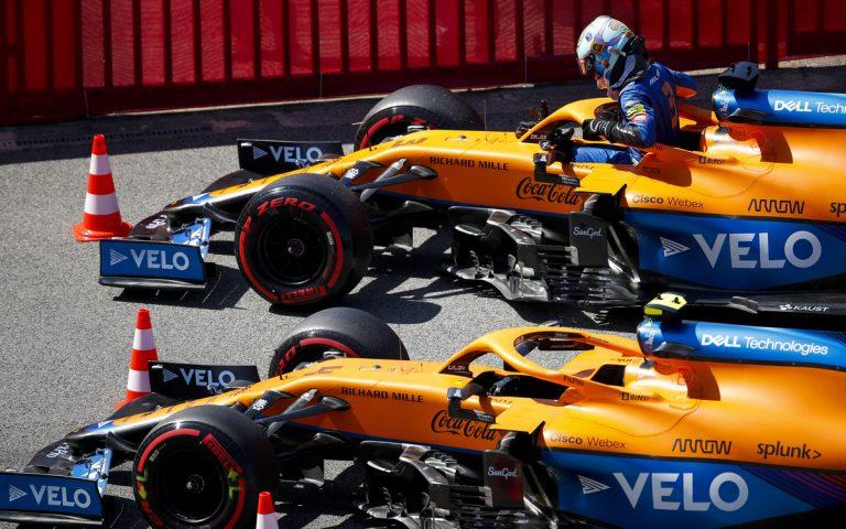 Lando Norris a Daniel Ricciardo