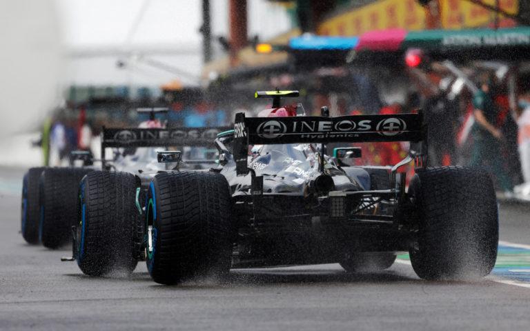 Valtteri Bottas, Mercedesy zozadu na gumách do dažďa
