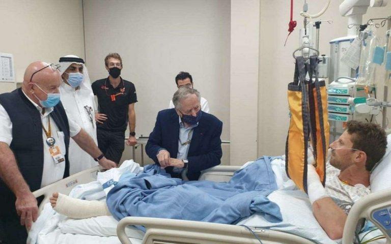Jean Todt navštívil Romaina Grosjeana v nemocnici