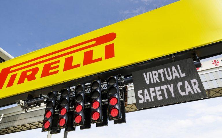 Štartové svetlá, virtuálne bezpečnostné vozidlo