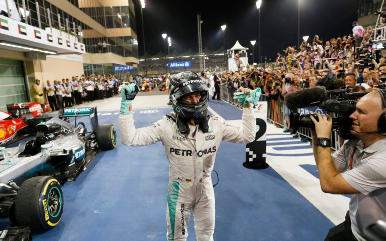 Nico Rosberg po zisku titulu v roku 2016