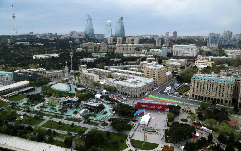 Baku, Azerbajdžan ilustračné