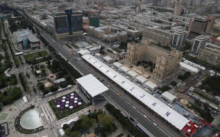 Baku, Azerbajdžan, boxy ilustračné