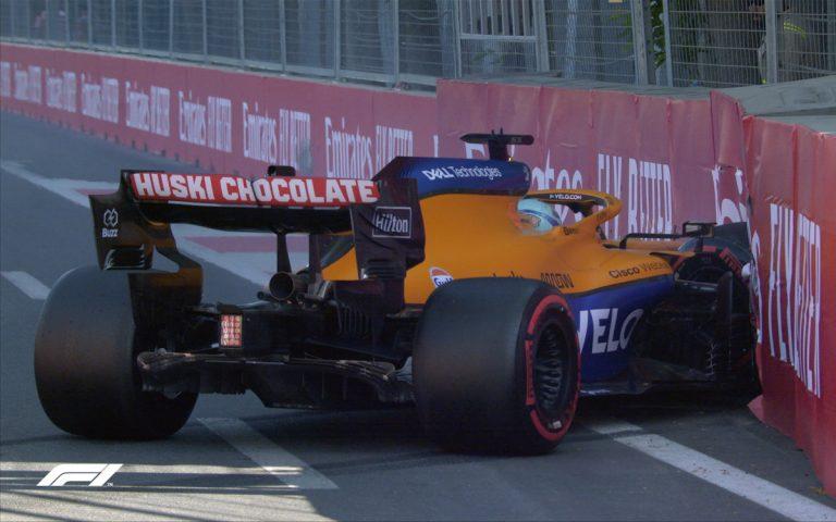 Daniel Ricciardo v bariére