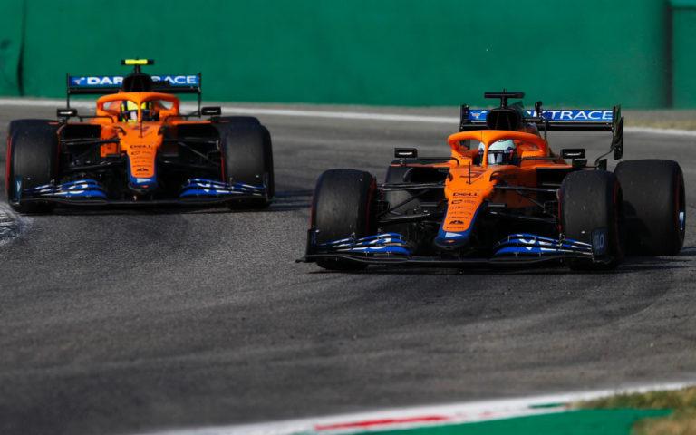 Daniel Ricciardo a Lando Norris