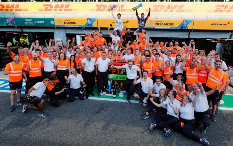 McLaren po víťazstve Daniela Ricciarda