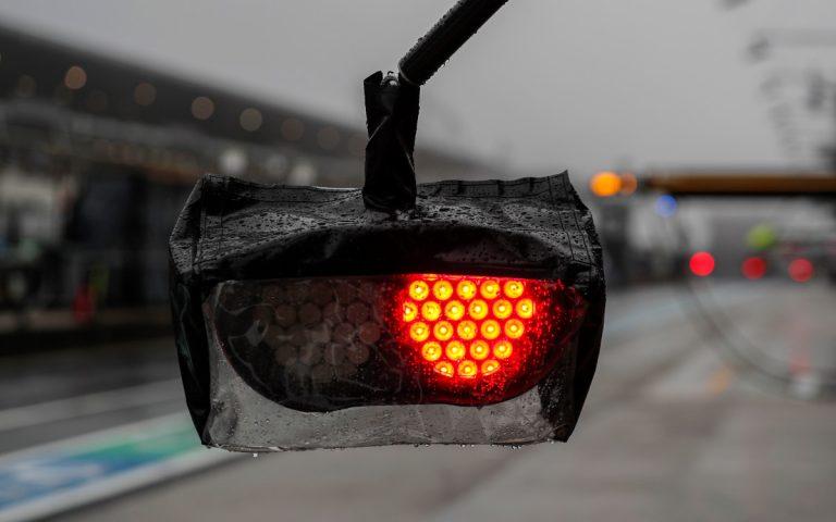 Boxové svetlá Racing Pointu