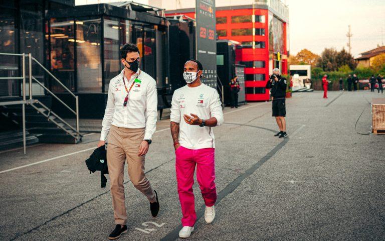 Toto Wolff a Lewis Hamilton