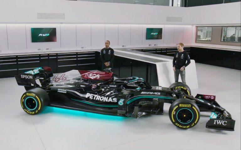 Mercedes W12, Lewis Hamilton a Valtteri Bottas