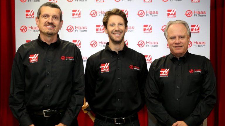 Günther Steiner, Romain Grosjean, Gene Haas