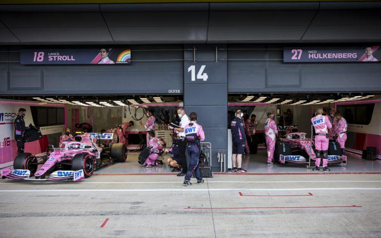 Racing Point, Lance Stroll a Nico Hülkenberg v garáži