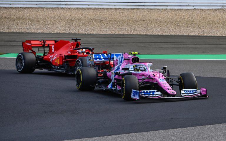 Nico Hülkenberg pred Sebastianom Vettelom