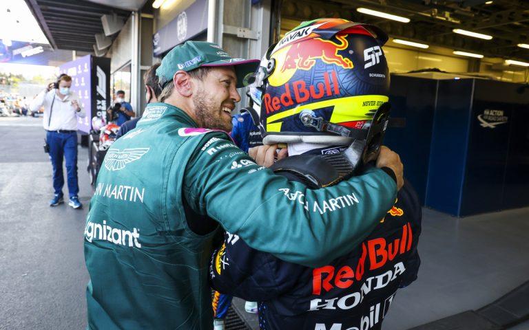 Sebastian Vettel a Sergio Pérez