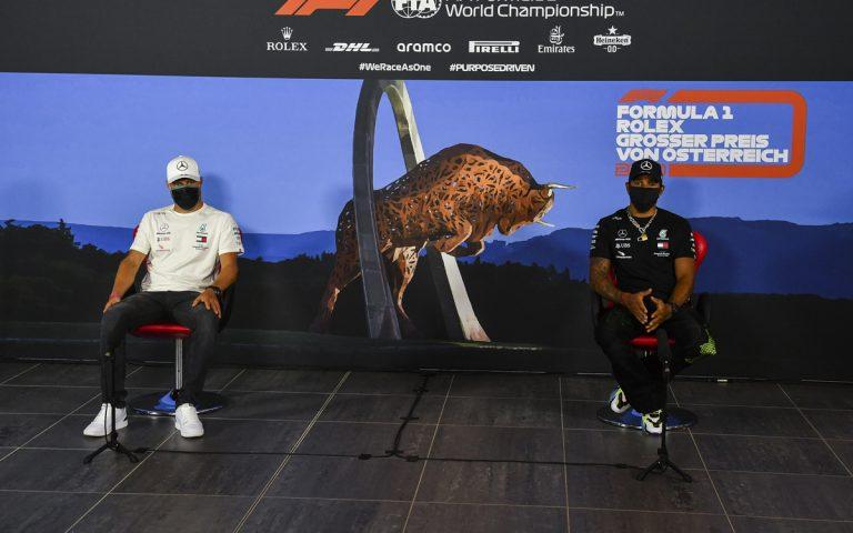 Lewis Hamilton a Valtteri Bottas