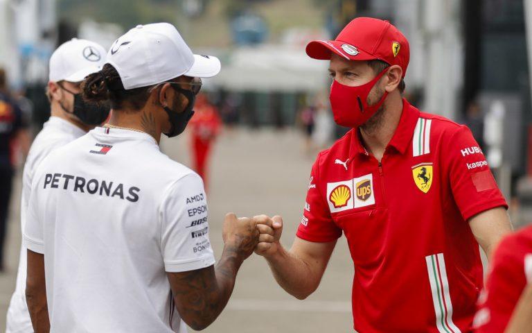 Lewis Hamilton a Sebastian Vettel