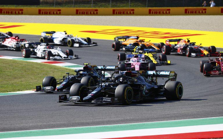 Po štarte VC Toskánska 2020, Lewis Hamilton, Valtteri Bottas