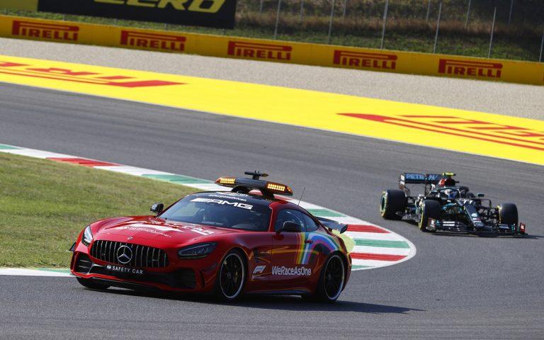 Valtteri Bottas za safety carom