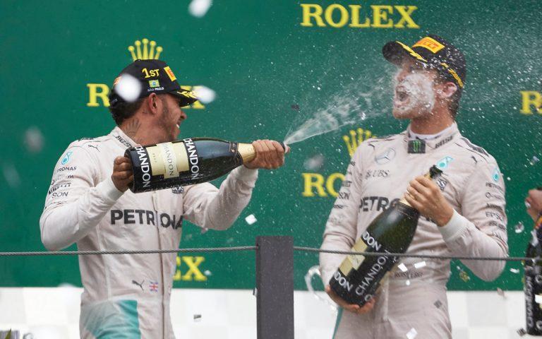 Lewis Hamilton a Nico Rosberg, 2016