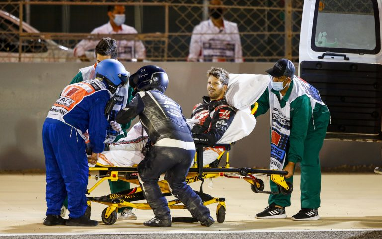 Romain Grosjean po nehode
