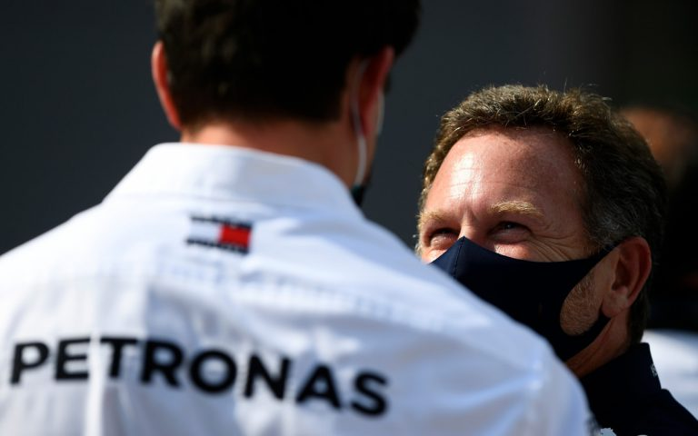 Christian Horner a Toto Wolff