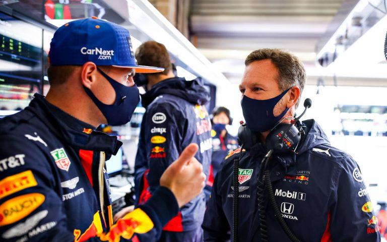 Christian Horner a Max Verstappen