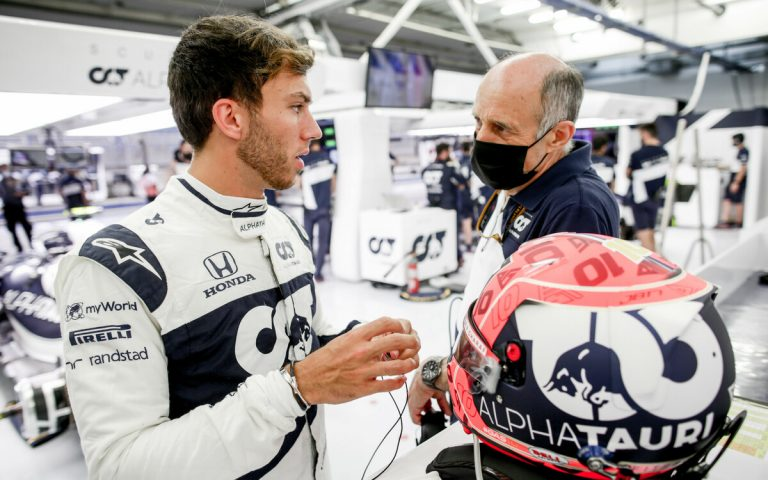 Pierre Gasly a Franz Tost