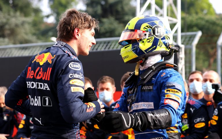 Max Verstappen a Lando Norris
