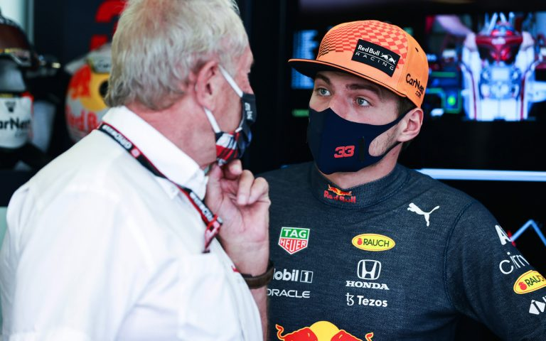 Max Verstappen a Helmut Marko