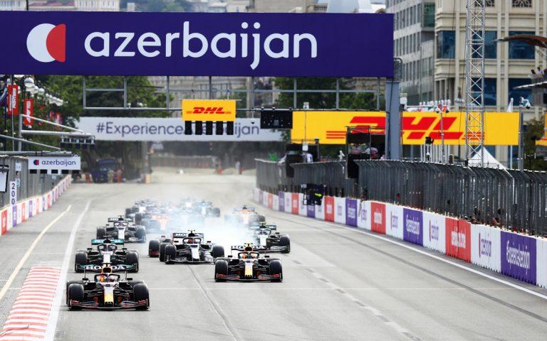 Po reštarte VC Azerbajdžanu 2021, Verstappen, Pérez