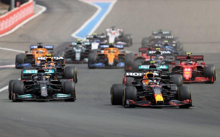 Po štarte VC Francúzska 2021, Verstappen, Hamilton
