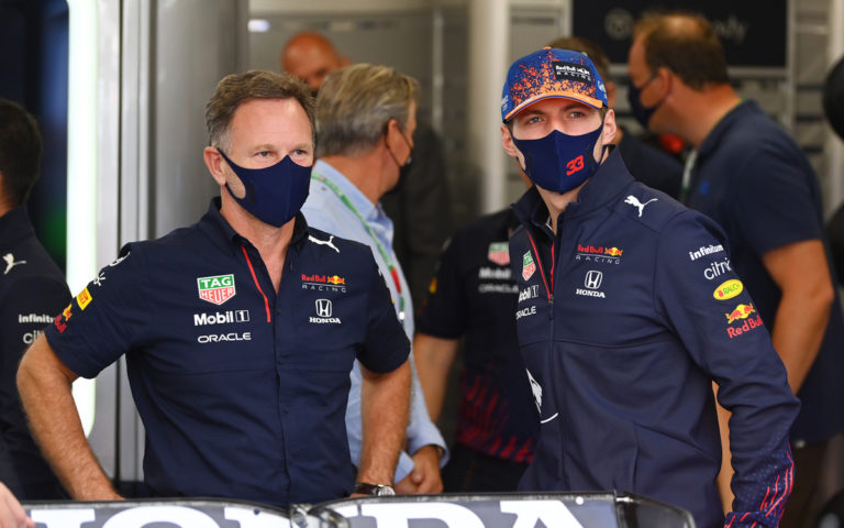 Max Verstappen a Christian Horner