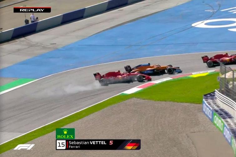 Sebastian Vettel vs Carlos Sainz