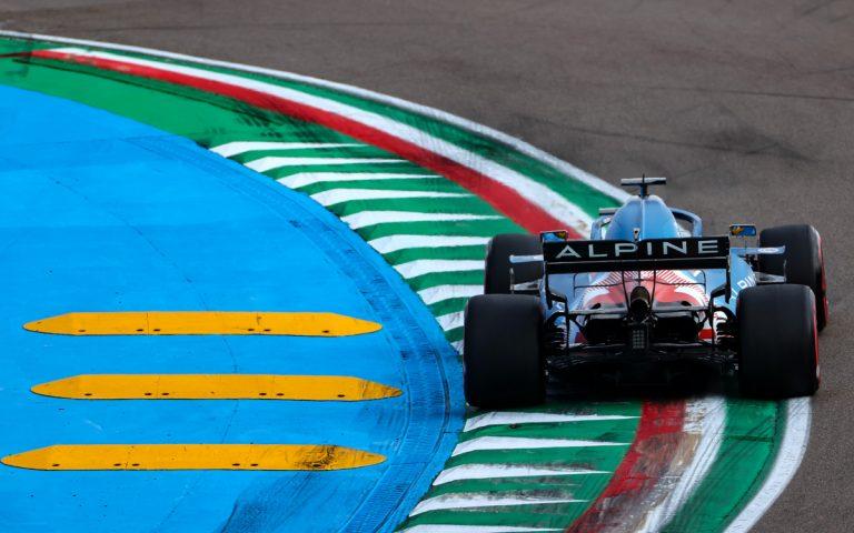 Fernando Alonso, Alpine zozadu, obrubníky