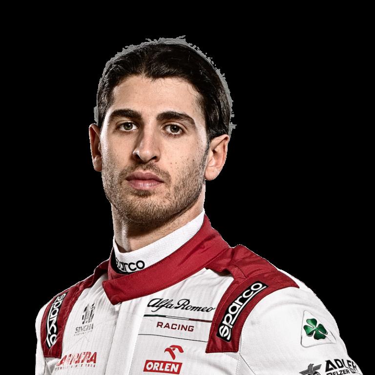 Portrét pilota Antonio Giovinazzi