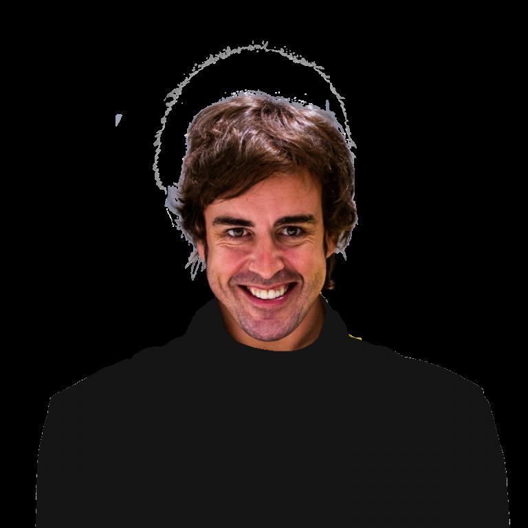 Portrét pilota Fernando Alonso