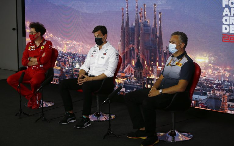 Mattia Binotto, Toto Wolff, Mario Isola