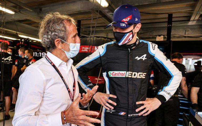 Esteban Ocon a Alain Prost