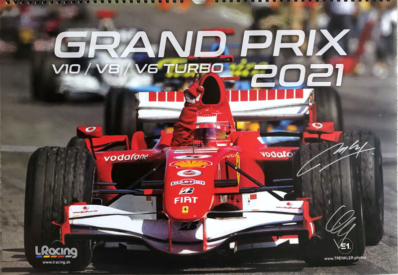 kalendár F1 pre rok 2021