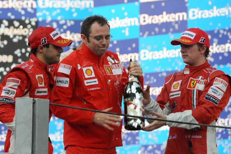 Felipe Massa, Stefano Domenicali, Kimi Räikkönen – Brazília 2008