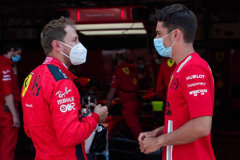 Sebastian Vettel a Charles Leclerc