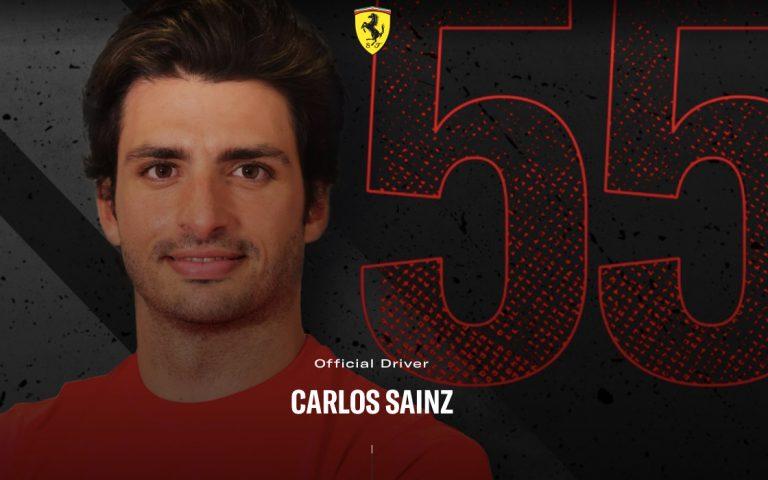 Carlos Sainz na webe Ferrari